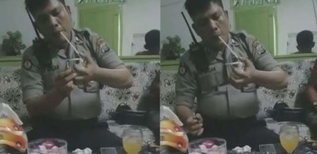 Setelah Terobos Pintu Tol, Sekarang Video Polisi Nyabu Lagi di Medan