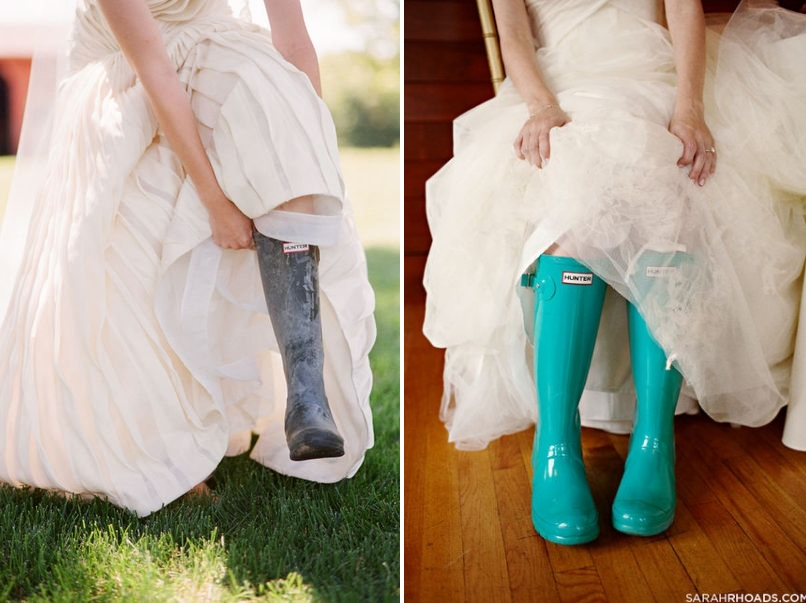 Hunter Boots Are The Perfect Accessory For Your Wedding Day If Rain Is In Forecast Fun Photos Get A Color That Pops Against White Dress