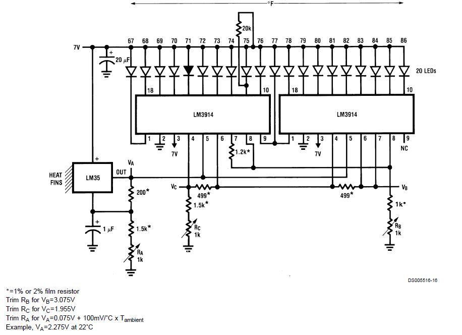 circuits4you com: Bar Graph Temperature Indicator using LM35
