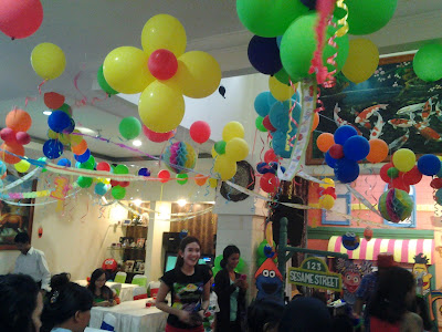 Dekorasi balon ultah anak, birthday balloon decoration