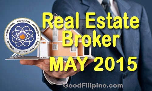 May 2015 Real Estate Broker Board Exam Passers - Real Estate Exam Results