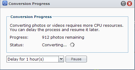 Systems Engineering: Converting photos very slow and high
