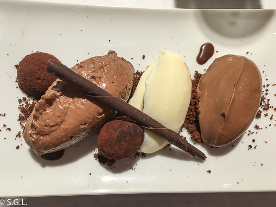 100% chocolate. Restaurante Zarate. Bilbao