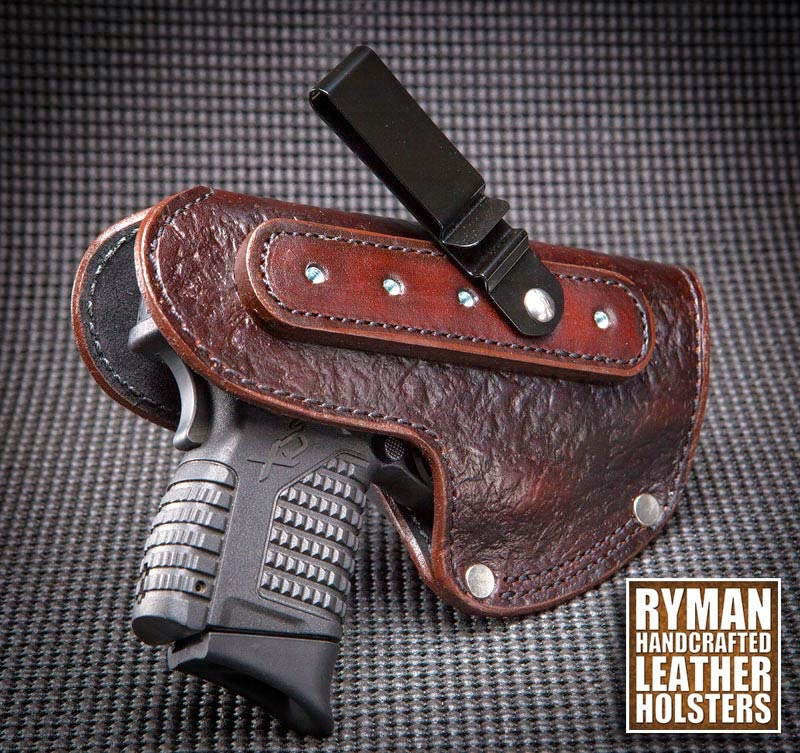Boot Holster with Textured Leather