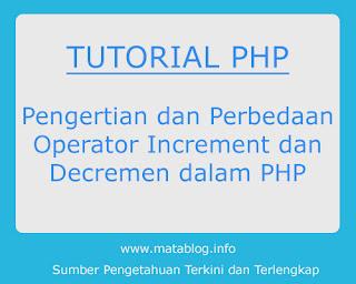Operator Increment dan Decrement di PHP