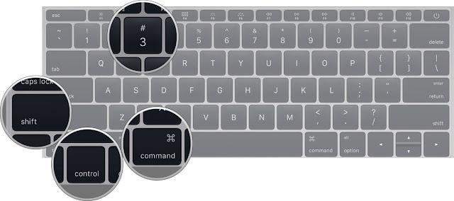 Chụp ảnh màn hình lưu vào Mac Clipboard