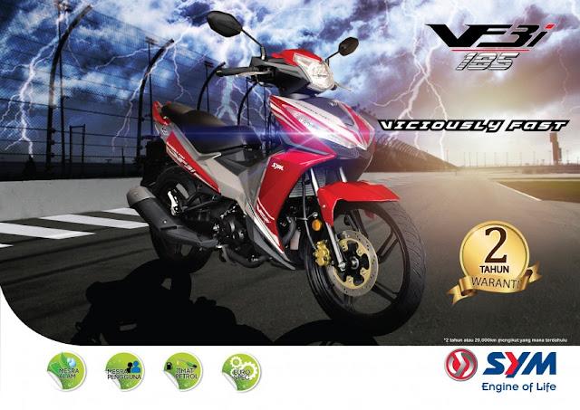 SYM VF3i Kapcai Berkuasa 183cc Paling Tinggi Di Dunia Di Lancarkan Di Malaysia, Harga Asas Dari RM8,467