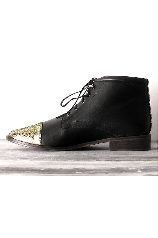 Bottines Emma Go noir et or