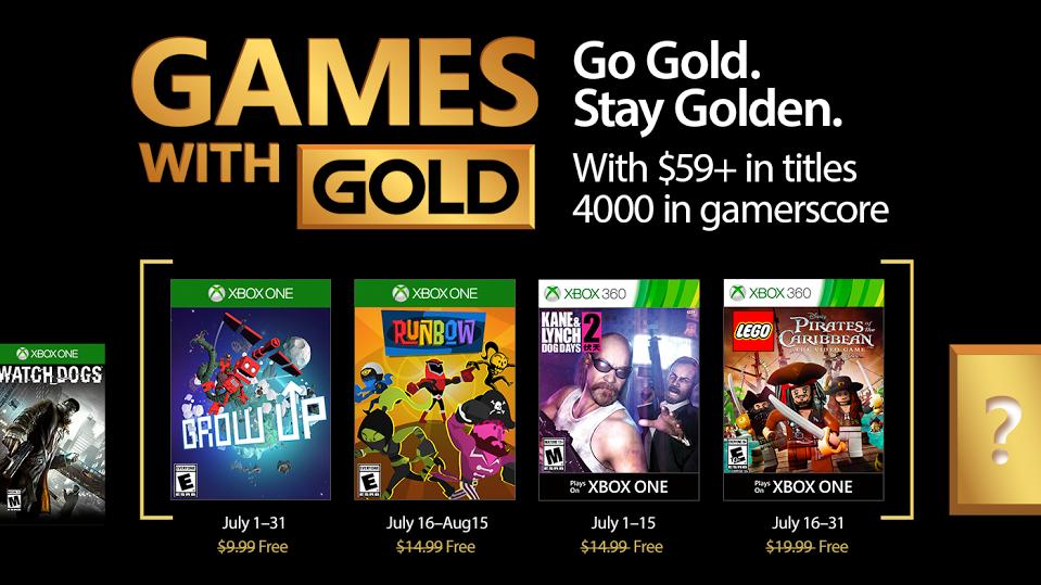 Se confirman los títulos del Xbox Live Gold de julio 2017