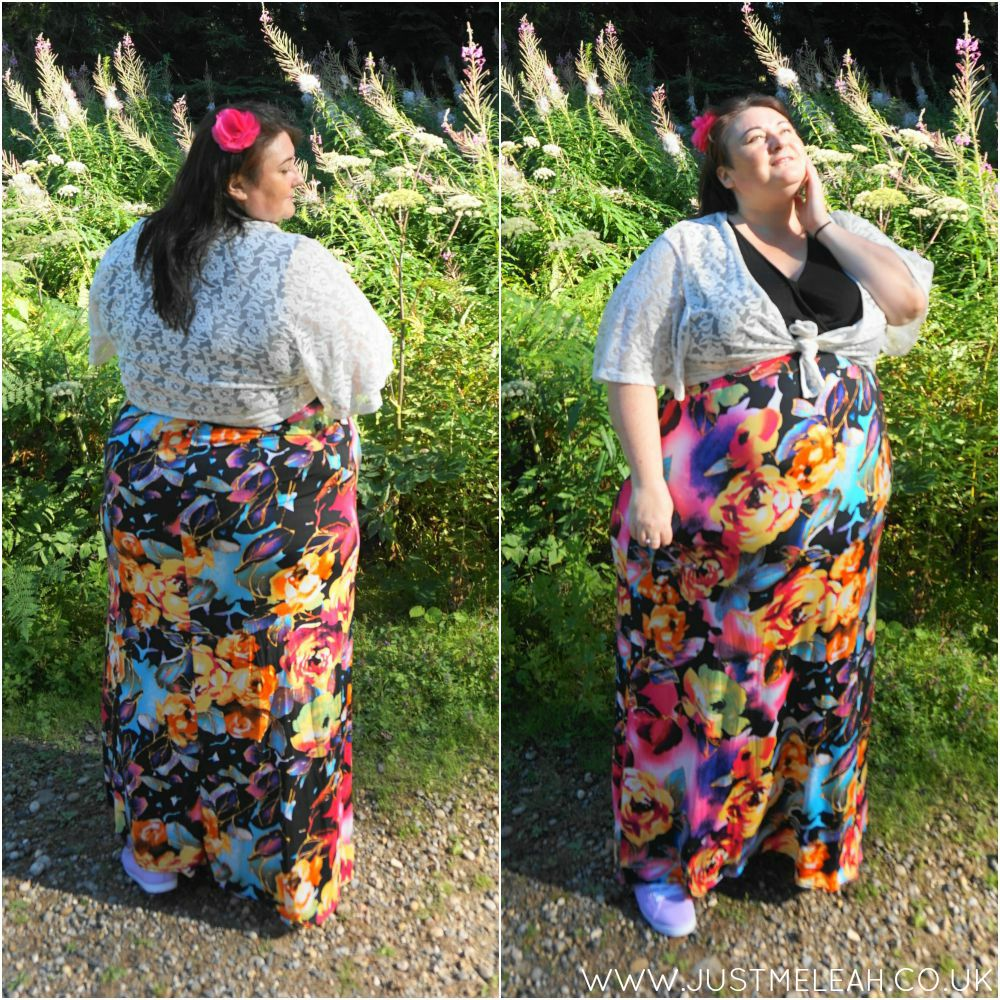 PLUS SIZE SUMMER FLORAL MAXI DRESS