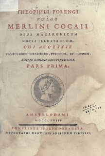 The cover of a book of macaronic verse by Folengo under his pseudonym