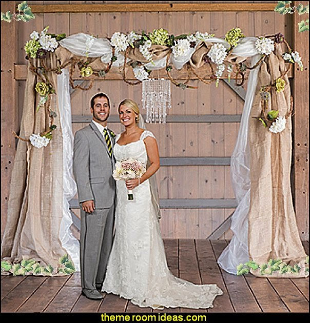 Rustic Wedding Arch With Burlap: Maries Manor: Rustic Style