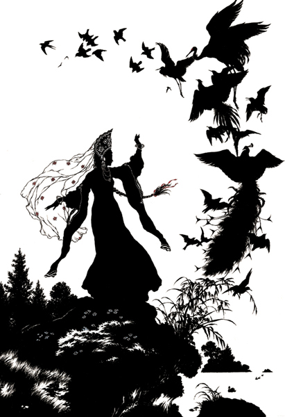 Black And White Silhouette Illustration