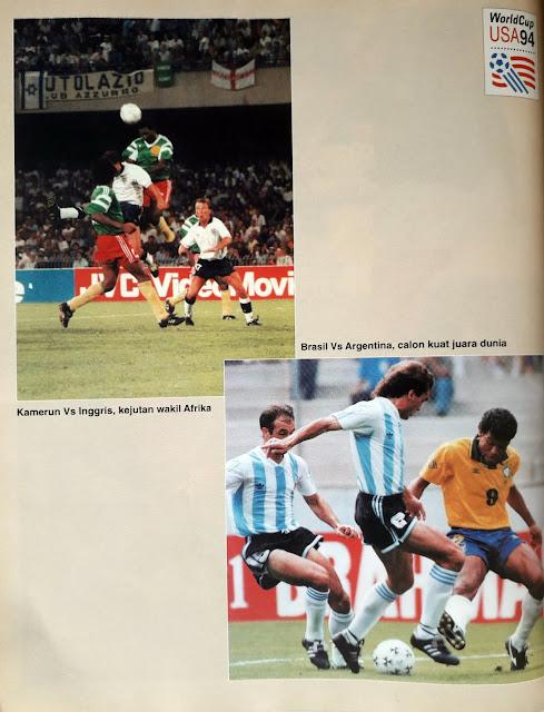 WORLD CUP USA 94 KAMERUN VS INGGRIS BRASIL VS ARGENTINA