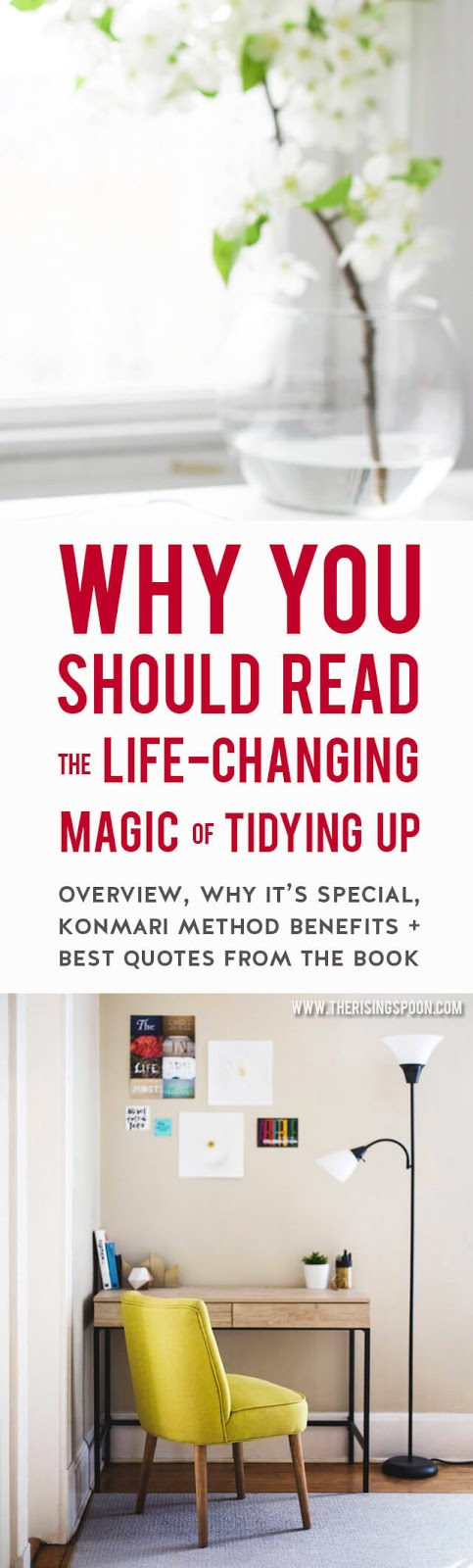 Tired of decluttering and organizing your home every season only to have stuff quickly pile up again? I was, too, until I discovered The Life-Changing Magic of Tidying Up book and its KonMari Method for tidying. It has truly changed my life for the better!