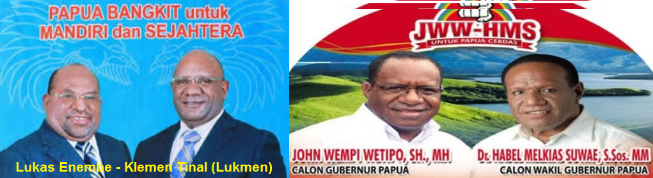 Dua pasang calon gubernur - Wakil Gubernur Papua 2018