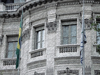 Detalhe da Embaixada do Brasil, em Buenos Aires