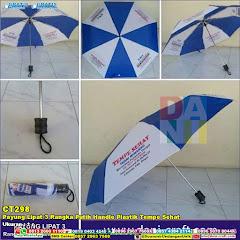 Payung Lipat 3 Rangka Putih Handle Plastik Tempe Sehat