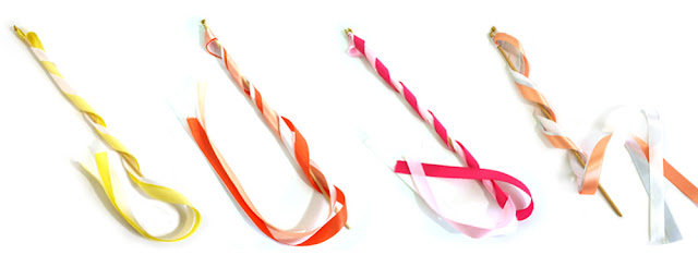 ribbon streamer wands available from Canadian packaging and wedding supplier Creative Bag