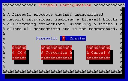 system-config-firewall-tui