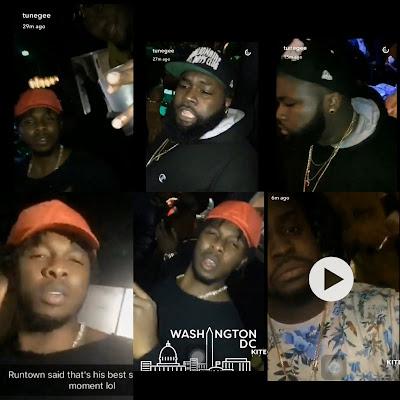 Runtown party hard in Washington DC Nightclub with Davido brother Adewale (Video)