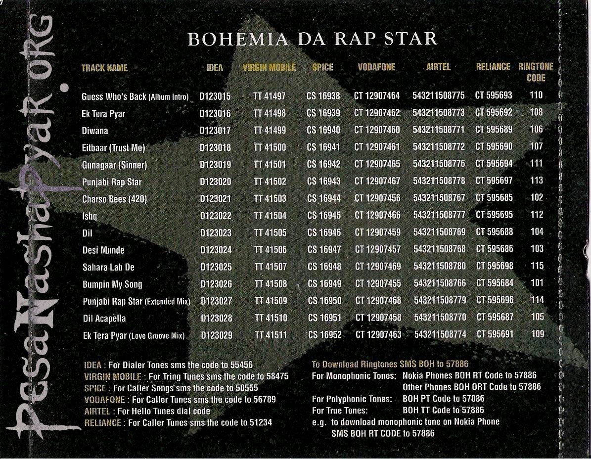 Bohemia - Da Rap Star - Full Album - The Hip Hop
