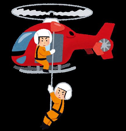 救難ヘリコプターのイラスト