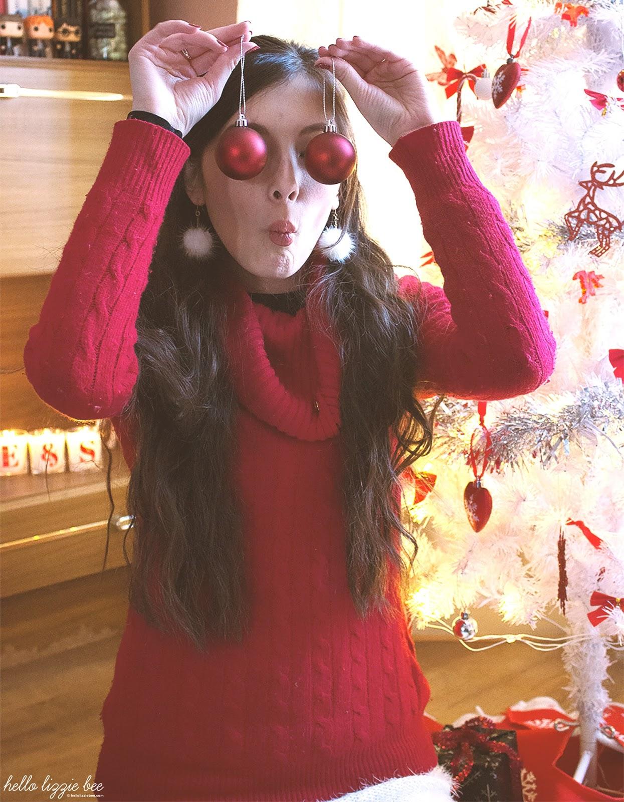 funny christmas pose