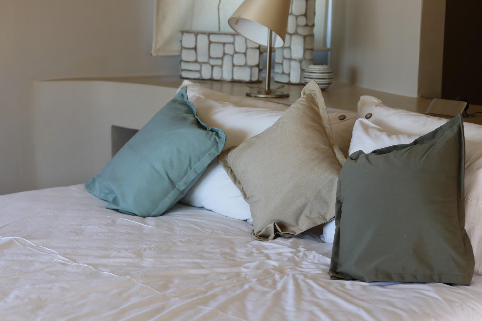 Bed with cushions, F Zeen Resort, Unique Villas, Kefalonia