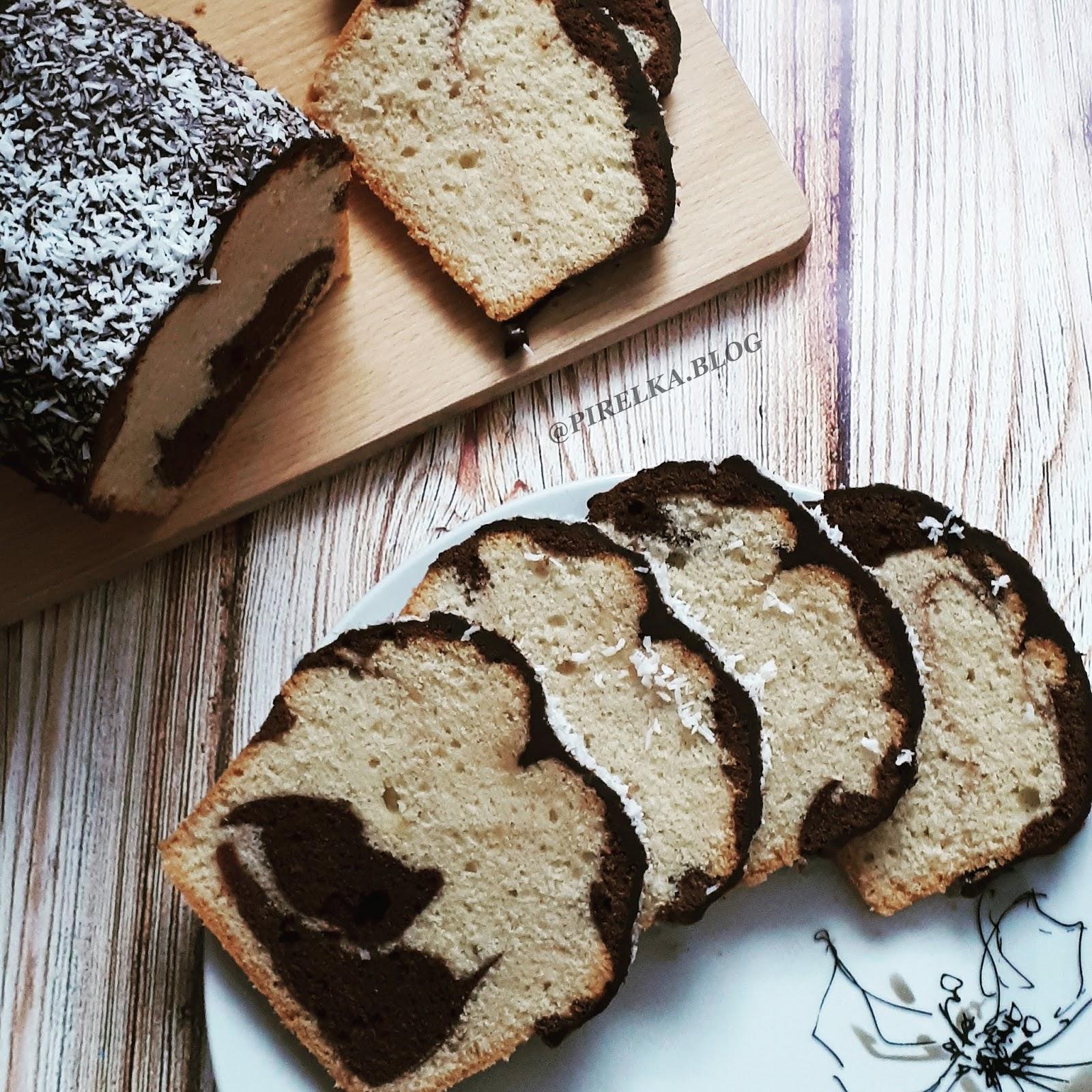 Kulinarnie po raz drugi - 'Zebra' czyli proste ciasto ucierane