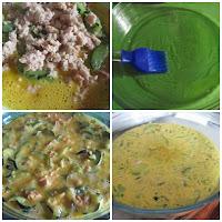 Tortilla de calabacín y atún en microondas