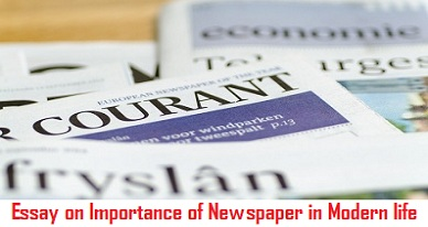 essay on importance of newspaper in modern life  wikiessays the newspaper is so much with us now that it is already difficult to  imagine a world without it hg wells