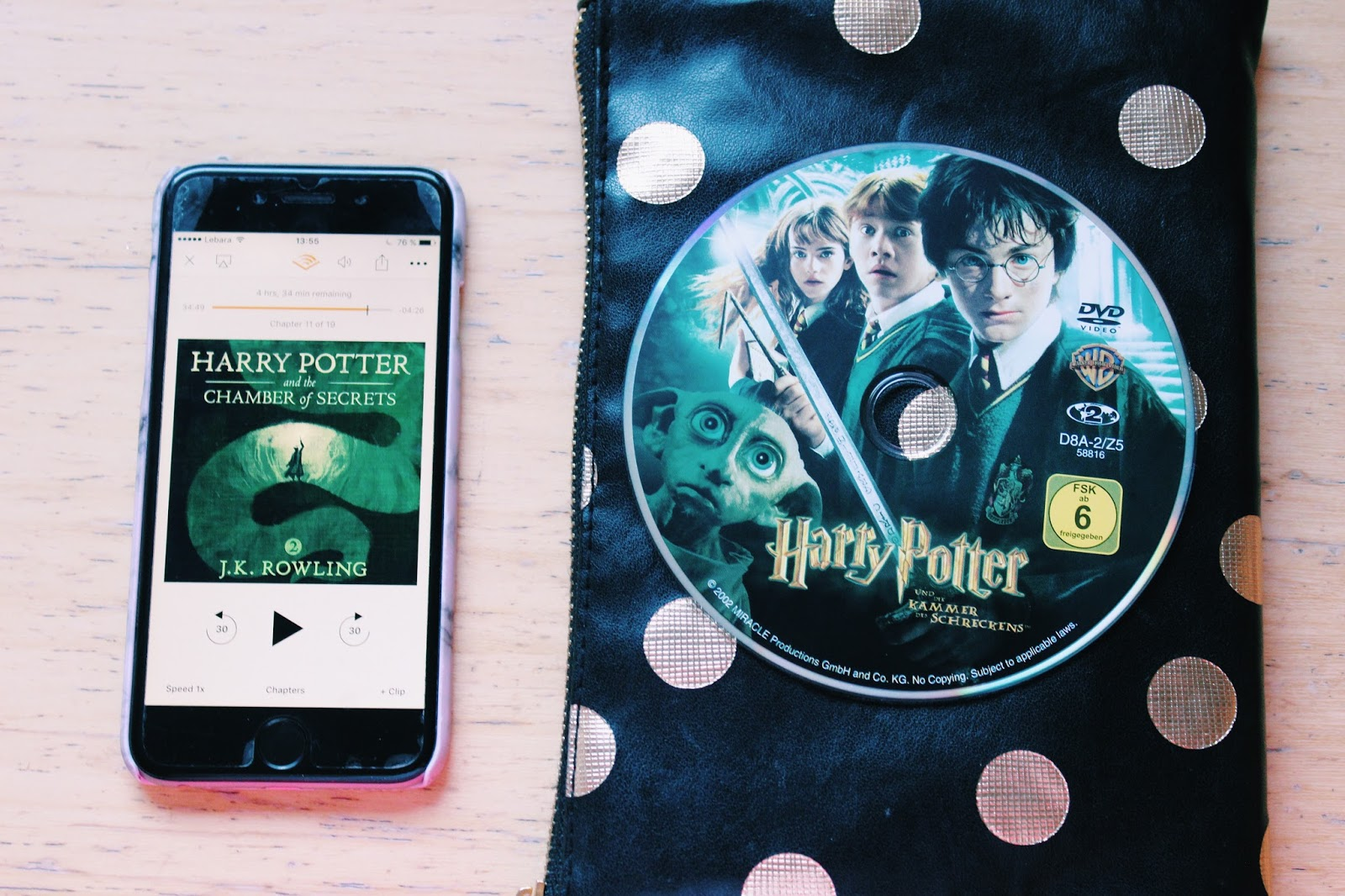 Harry Potter and the Chamber of Secrets Audible and DVD