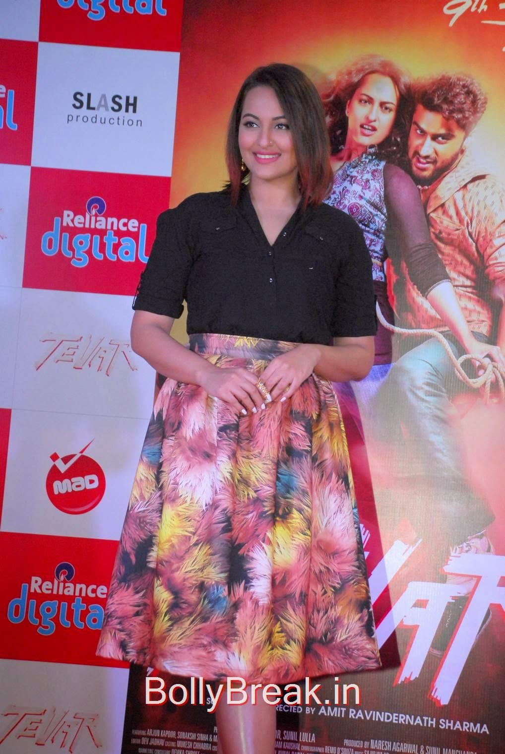 Sonakshi Sinha Pictures, Sonakshi Sinha Hot Pics In Skirt At Reliance Digital Infiniti Mall 2 Malad
