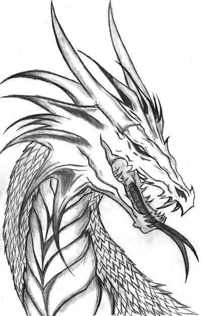 Its Pic Of Wraith Dragon From Story Writing Hope You All Like  Scary Dragon Coloring Pages