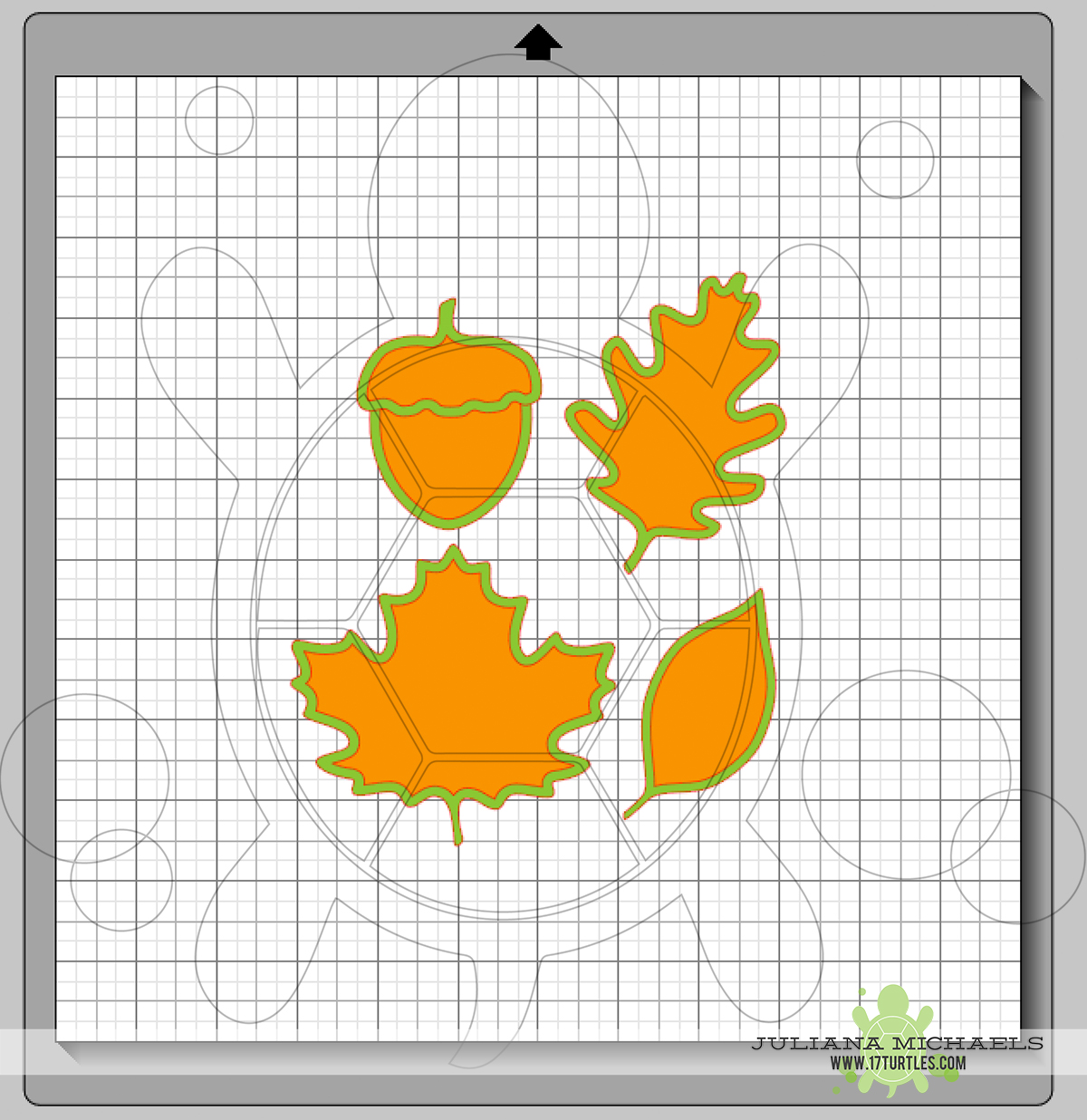 Digital Cut File Leaves & Acorn by Juliana Michaels 17turtles