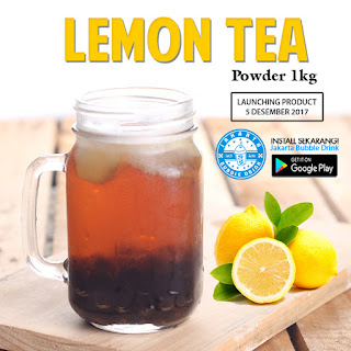 jual lemon tea powder jakarta bubble drink bubuk minuman