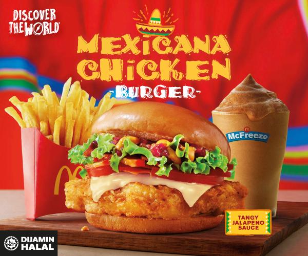 Perkenalkan Menu Baharu Burger Ayam Mexicana dari McDonald's Malaysia!