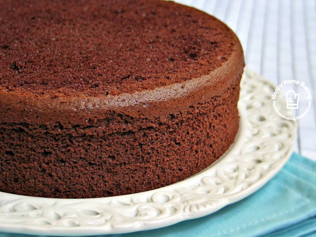 Easy Plain Chocolate Sponge Cake Recipe