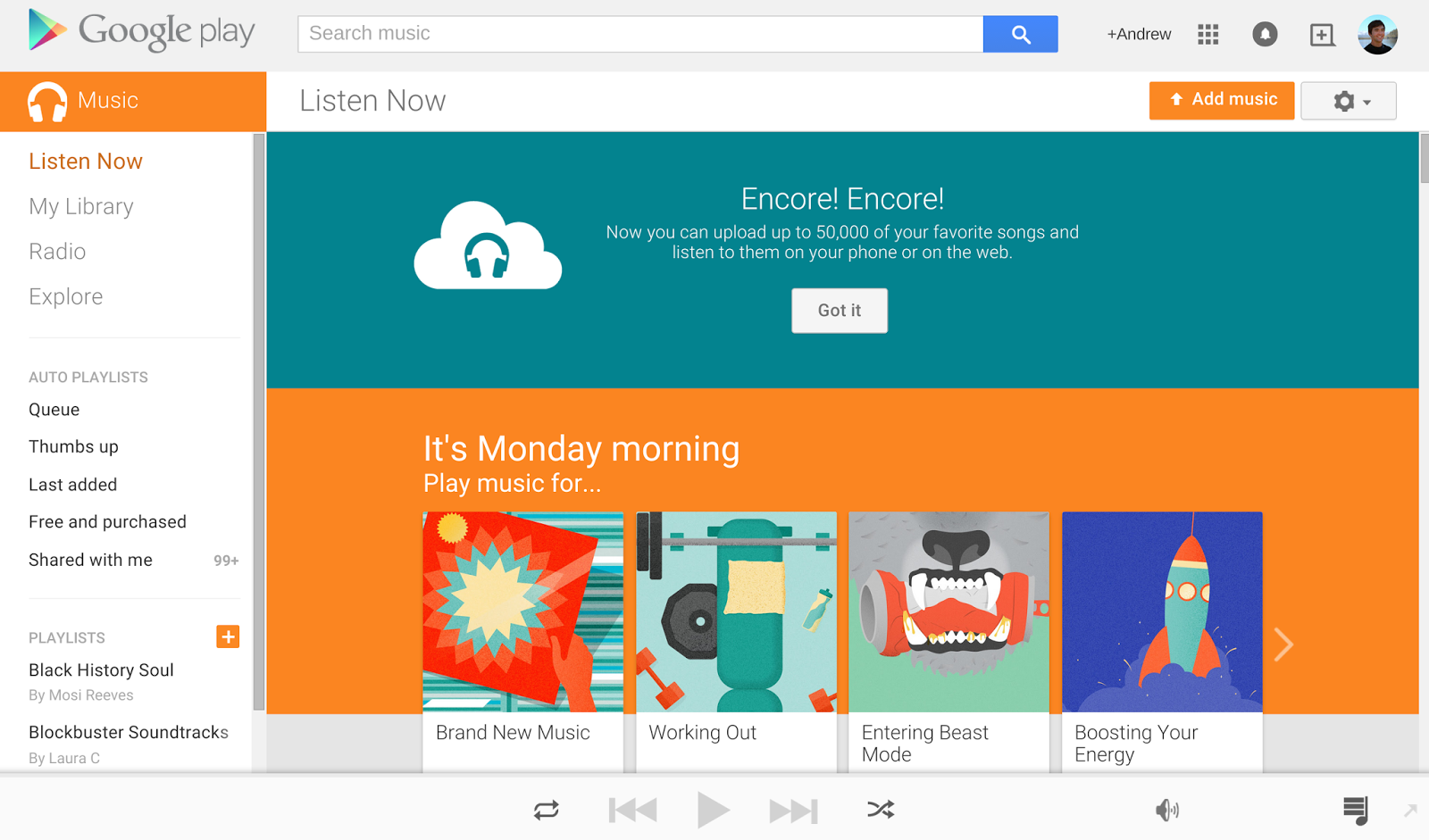 Official Android Blog: Store your music online and listen