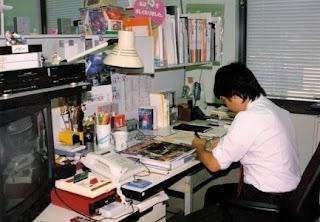 Shigeru Miyamoto trabajando en Nintendo en los 80