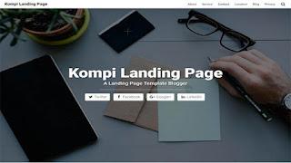 Kompi Landing Page Blogger Template