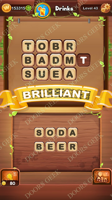 Word Bright Level 43 Answers, Cheats, Solutions, Walkthrough for android, iphone, ipad and ipod