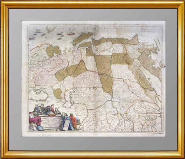 карта Российской империи 1720года