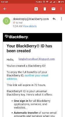 cara buat akun blackberry messenger