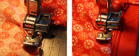 Sewing a zipper pouch