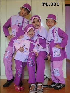 Baju Muslim Anak Couple Ungu