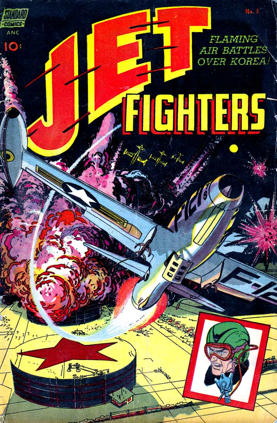 Jet Fighters v1 #5 standard war comic book cover art by Alex Toth