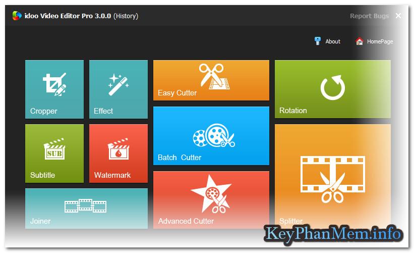 Download idoo Video Editor Pro 10.0.0 Full Key, Bộ công cụ xử lý Video nhỏ gọn có võ