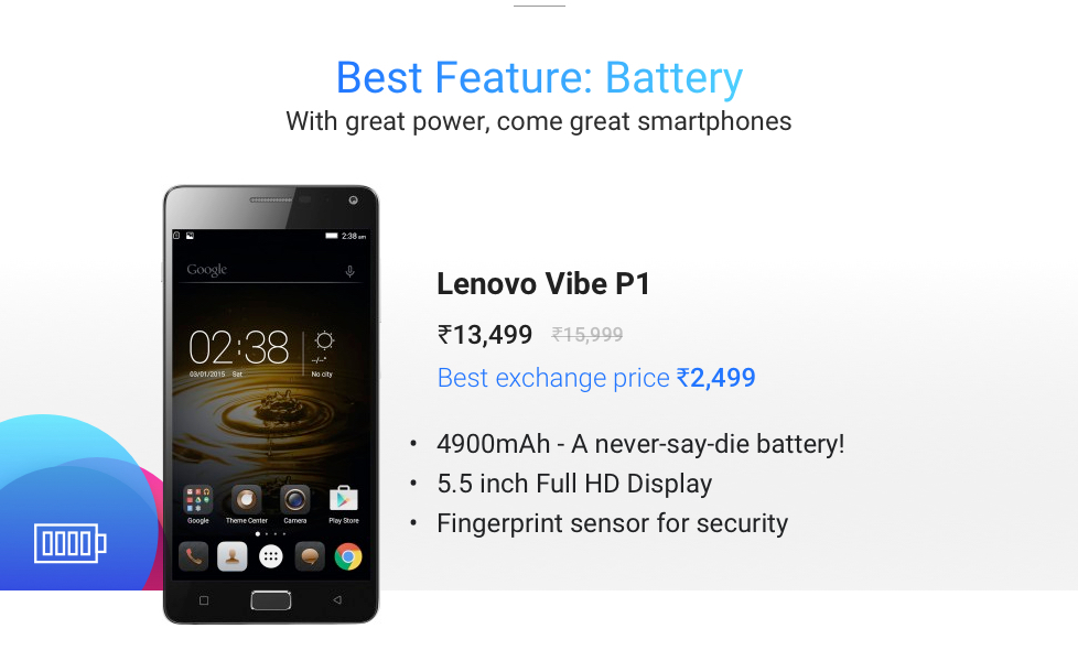 e8fea1772 Best Feature Battery With Great Power Come Great Smartphones its is Lenovo  Vibe p1